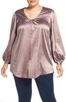 Melissa McCarthy V-Neck Blouse (Plus Size)