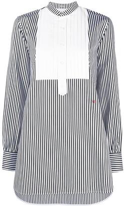Victoria Beckham Bib Collar Striped Shirt