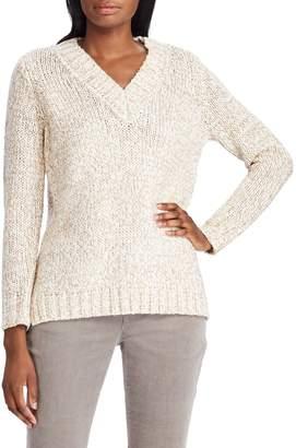 Chaps Cotton-Blend V-Neck Sweater