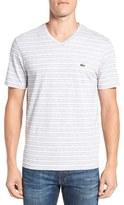 Lacoste Men's Stripe V-Neck T-Shirt
