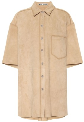 Acne Studios Oversized suede shirt