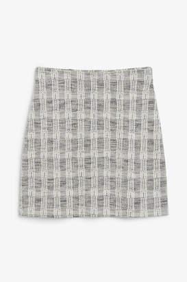 Monki Boucle mini skirt