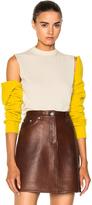 CALVIN KLEIN 205W39NYC Merino Open Shoulder Sweater