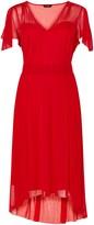 Evans **Scarlett & Jo Angel Sleeved Red Dress