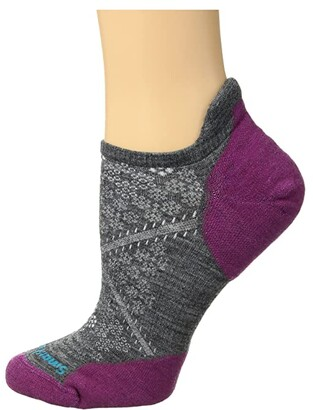 Smartwool PhD(r) Run Light Elite Micro (Medium Gray) Women's No Show Socks Shoes
