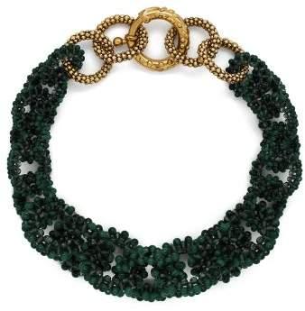 Rosantica By Michela Panero - Carramato Short Beaded Necklace - Womens - Green