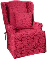 Sure Fit Scroll 1-pc. Wing Chair Slipcover