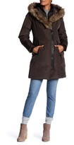 Rudsak Leather Faux Fur Trim Sophia Coat