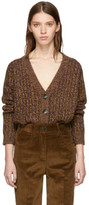 Prada Brown Lurex Cardigan
