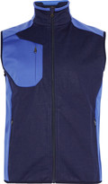 Rlx Ralph Lauren - Two-tone Fleece-panelled Jersey Golf Gilet