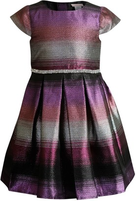 Youngland Girls 4-6x Woven Ombre Stripe Dress