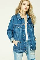 Forever 21 FOREVER 21+ Oversized Denim Jacket