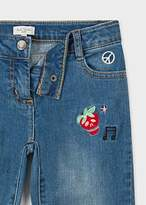 Paul Smith Girls' 8 + Years Indigo Embroidered Stretch-Jeans