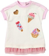 MonnaLisa Ice Cream Cotton Sweatshirt Dress