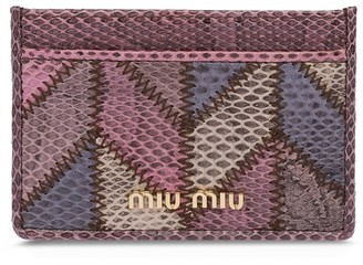 Miu Miu Snakeskin Card Holder