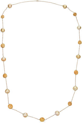 BELPEARL Elegant 14k Rope South Sea Pearl Yellow Sapphire Necklace