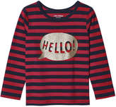 Joe Fresh Toddler Girls' Glitter Tee, Red (Size 5)