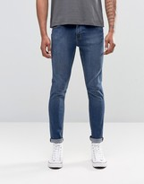 Cheap Monday Jean Tight Skinny Fit Mid Blue Wash