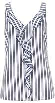 Wallis Navy Striped Ruffle Camisole Top