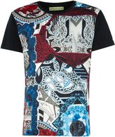 Versace Regular Fit All-over Print Collage T-shirt