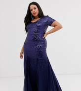 R & M Richards Plus Size Embroidered Sequin Lace Sweetheart Godet Gown | Dillard's