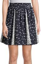 French Connection Women's Floral Komo Drape Skirt
