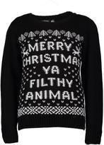 Boohoo Boys Filthy Animal Christmas Jumper