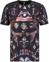 Criminal Damage Illuminate Print Tshirt Black/multi