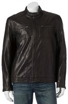 Marc Anthony Men's Faux-Leather Moto Jacket
