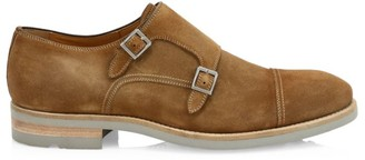 Saks Fifth Avenue COLLECTION BY MAGNANNI Suede Double Monk-Strap Shoes