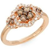 Effy White & Espresso Diamond & 14K Rose Gold Ring