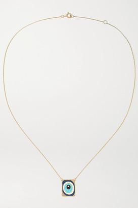 Diane Kordas 18-karat Rose Gold, Enamel And Diamond Necklace - one size
