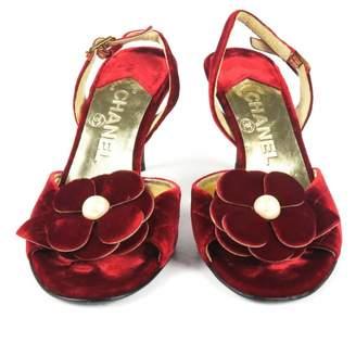 Chanel \N Red Velvet Heels