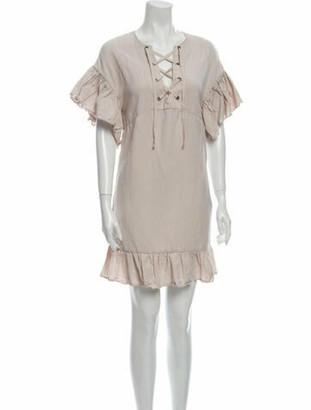 Ulla Johnson V-Neck Mini Dress