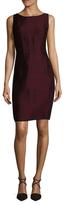 Narciso Rodriguez Wool Geo Jacquard Sheath Dress