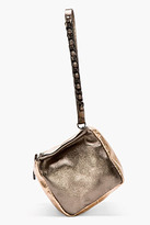 Givenchy Bronze Metallic Leather Small Pandora Wristlet