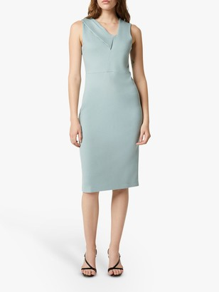 French Connection Tawiah Midi Dress, Silver Blue
