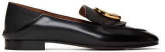 Chloé Black Shiny Loafers