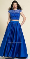 Dave and Johnny Two Piece Beaded Firework Prom Gown