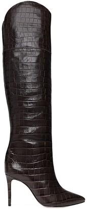 Schutz Julyanne Over-The-Knee Croc-Embossed Leather Boots