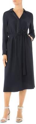 Peserico Belted Midi Shirt Dress