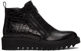 Giuseppe Zanotti Black Tegia Zip-Up Boots