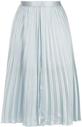 Fleur Du Mal Lace Insert Pleated Skirt
