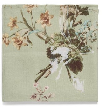 Preen by Thornton Bregazzi Set Of Four Floral-print Linen Napkins - Grey Print