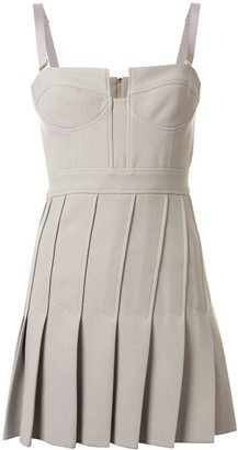 Dion Lee Column Pleated Mini dress