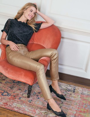 Boden Metallic Skinny Jeans