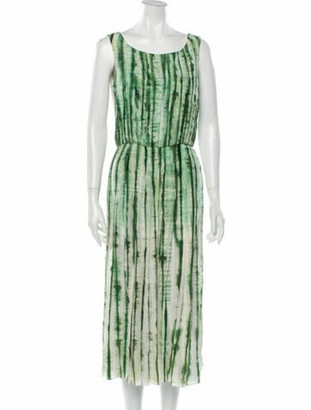 Oscar de la Renta 2011 Midi Length Dress Green