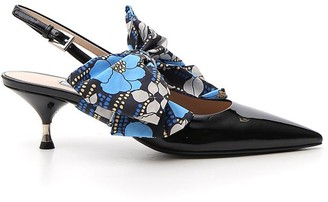 Prada Ribbon Slingback Pumps
