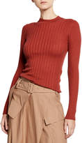 Vince Mixed-Rib Cashmere Sweater
