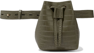 Nanushka Minee Convertible Croc-effect Vegan Leather Belt Bag